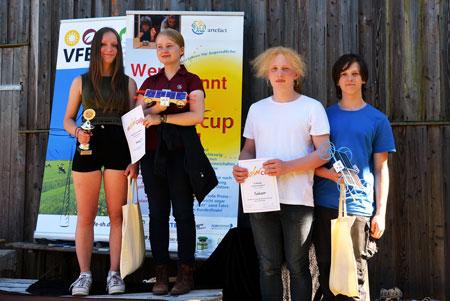 Die Sieger in der Ultraleichtklasse: Team Herby 7.0 und Team Solar